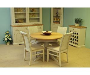 Andrena Barley Fixed Top Pedestal Table