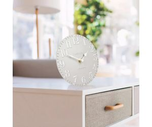 Arabic Dove Grey Mantel Clock