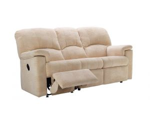 G Plan Chloe Fabric Three Seater Recliner Sofa