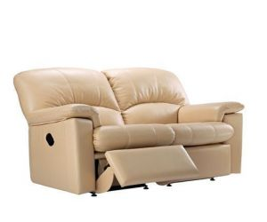 G Plan Chloe Leather Two Seater Recliner Sofa