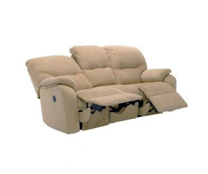 G Plan Mistral Fabric Three Seater Recliner Sofa