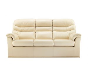 G Plan Malvern Leather Three Seater Sofa