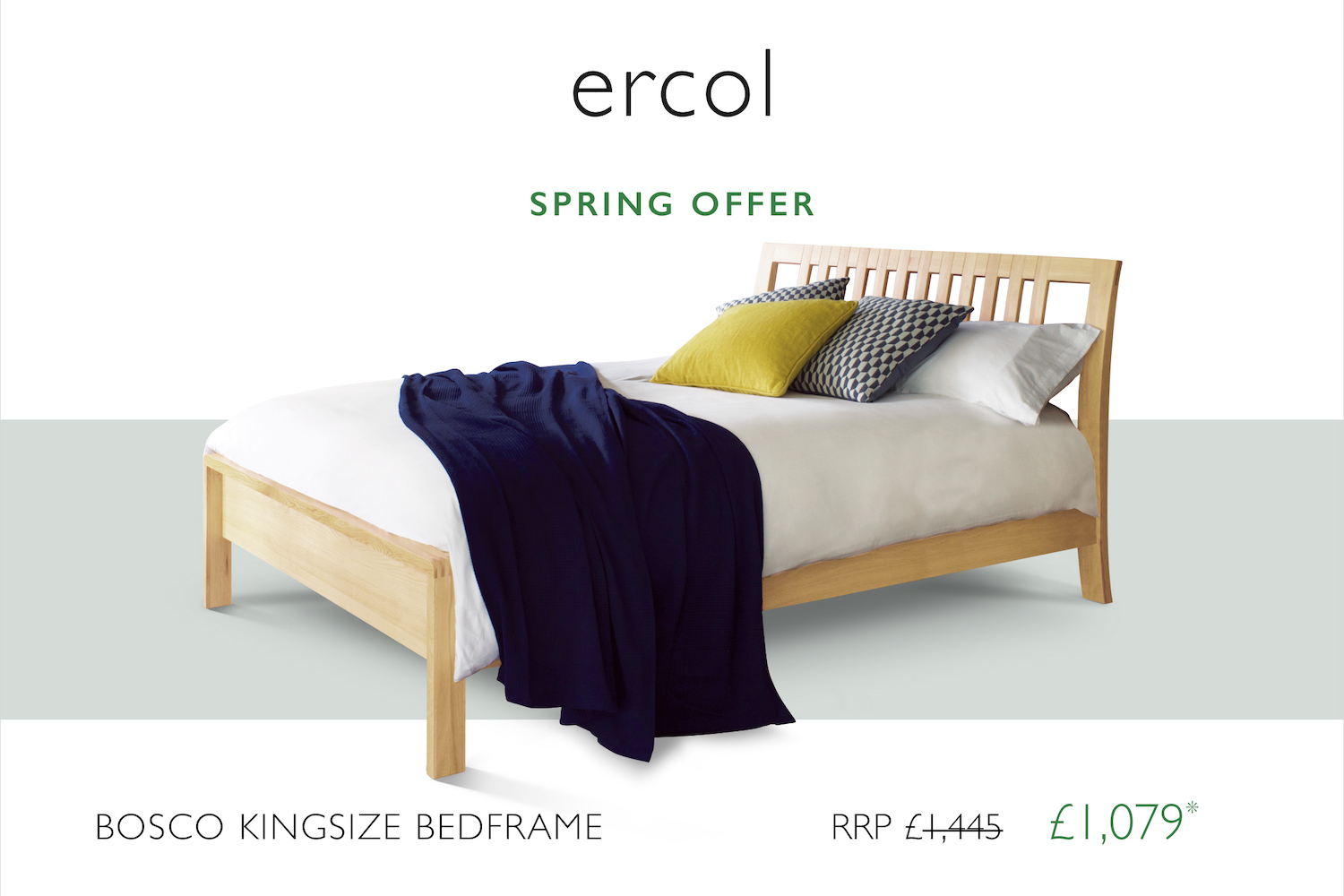 ercol Spring 2021 bed promotion