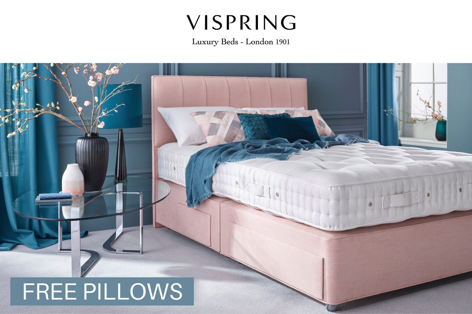 Vispring free pillows promotion