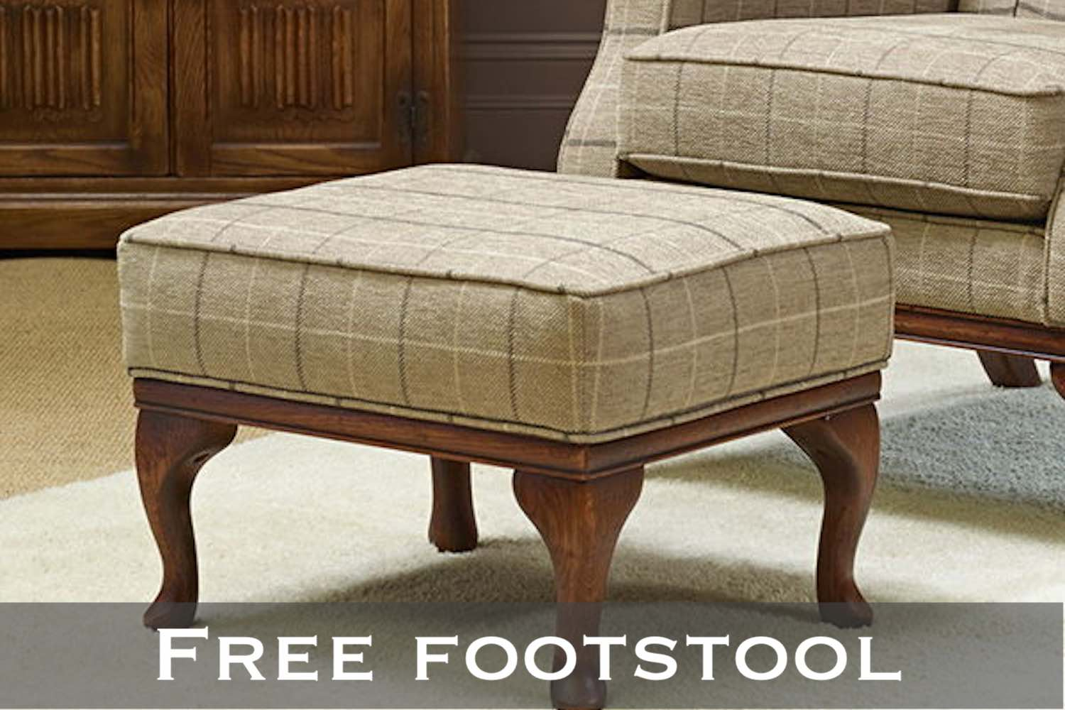Wood Bros free footstool promotion