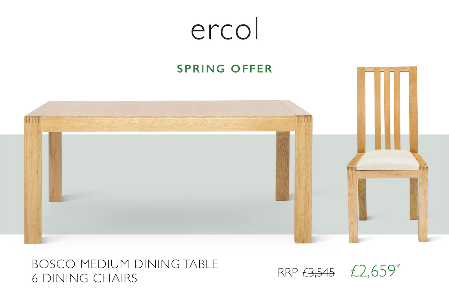 ercol spring 2021 dining promotion