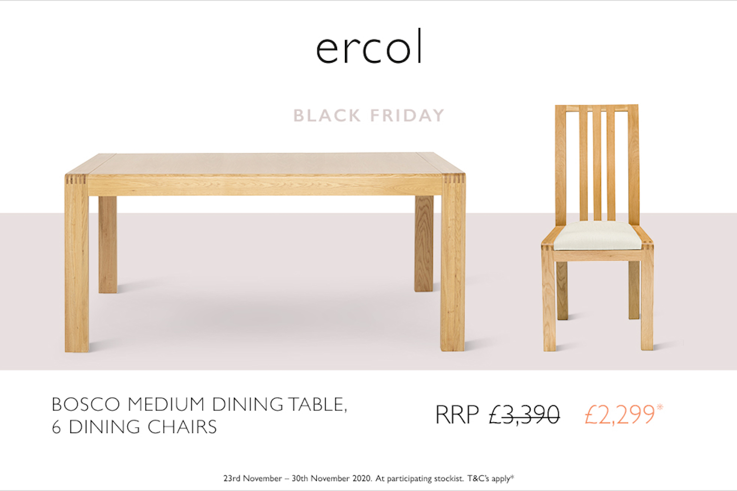 ercol Black Friday offer