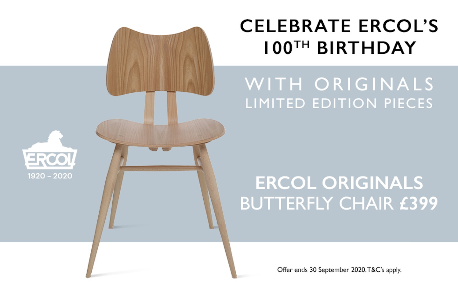 ercol Originals centenary offer
