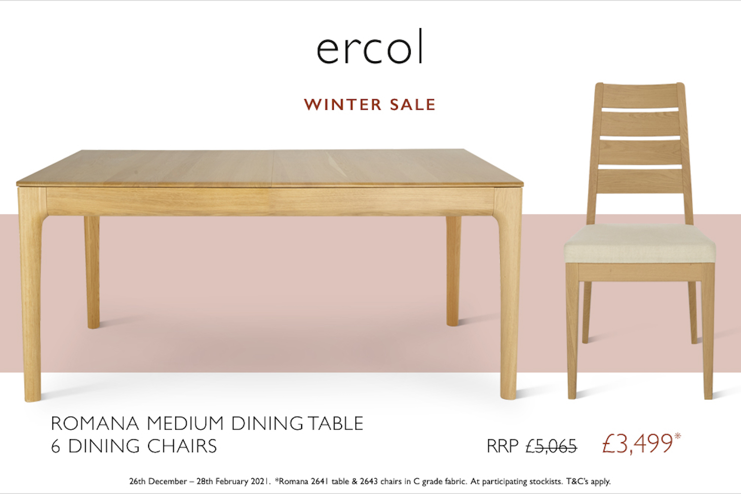 ercol winter dining sale